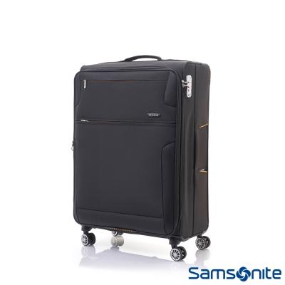 Samsonite新秀麗 28吋Crosslite飛機輪大容量可擴充布面TSA行李箱-黑色