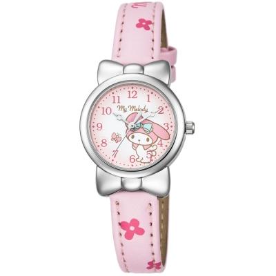 HELLO KITTY 美樂蒂可愛蝴蝶結俏皮手錶-粉紅/27mm