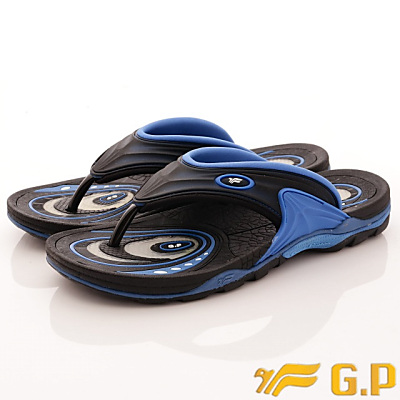 GP時尚涼拖-蜂巢氣墊夾腳拖-GSI886M23寶藍(男段)