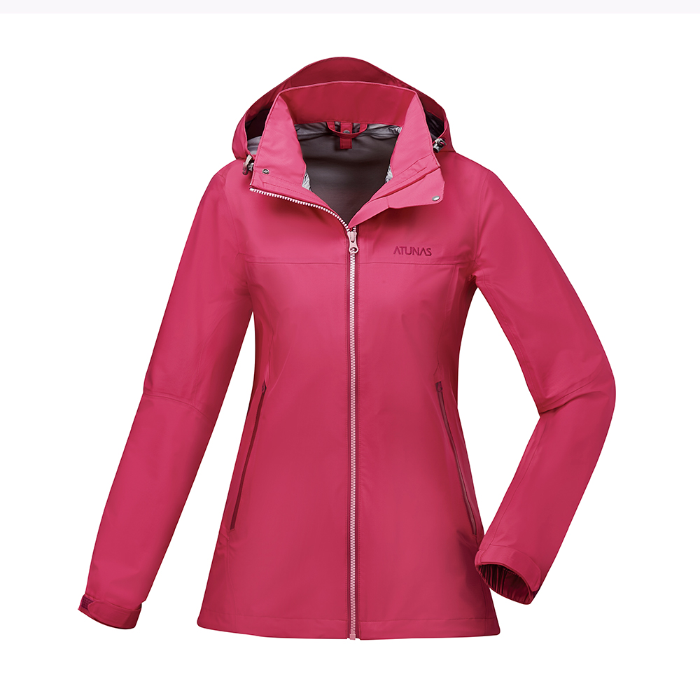 【ATUNAS 歐都納】女款防水GORE-TEX輕量風衣外套A-G1728W紫紅