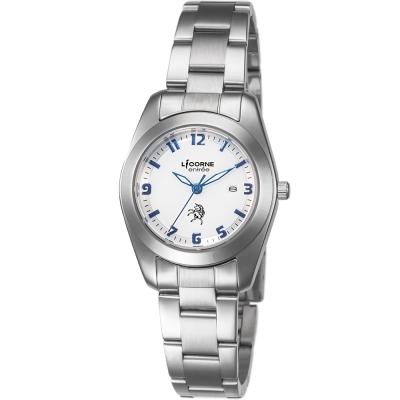 LICORNE 恩萃 Entr?e 簡約時尚設計都市女錶-白面x藍/31mm