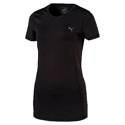 PUMA-女性訓練系列素色短袖T恤-黑色-歐規