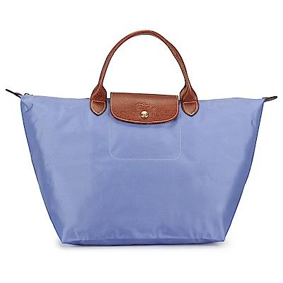Longchamp 折疊中型水餃包(短提把/薰衣紫色)