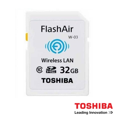 TOSHIBA 32G FlashAir W-03 WI-FI SDHC 無線傳輸 記憶卡