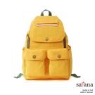 satana - 多功能拉鍊後背包 - 琥珀黃