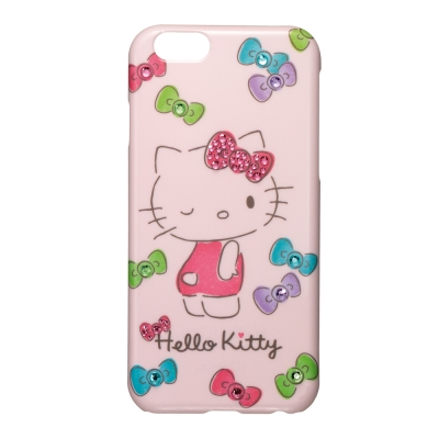 日本Suncrest HelloKitty iphone 6 /6s 閃鑽手機殼...