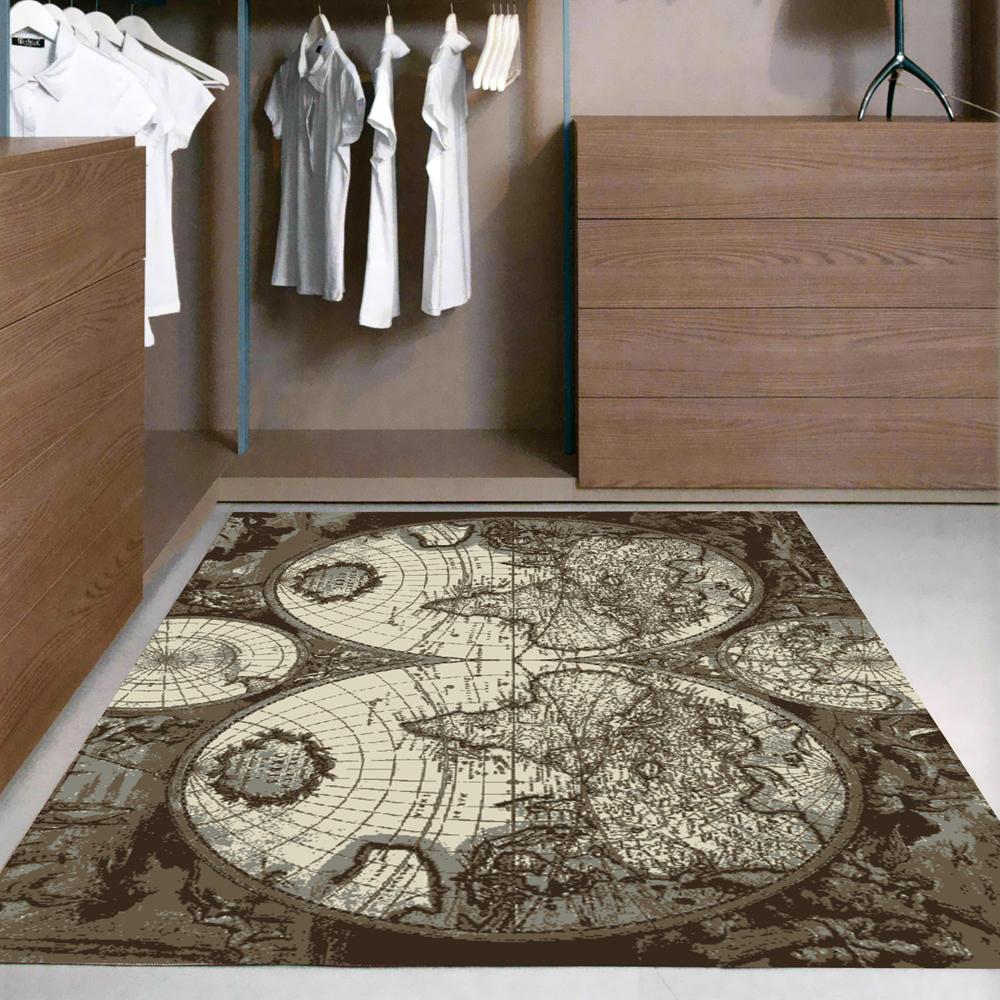 范登伯格 - 艾薇兒 多變視覺地毯 - 地球儀 (140 x 200cm)