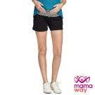 孕婦褲 短褲 孕期超軟針織短褲 Mamaway