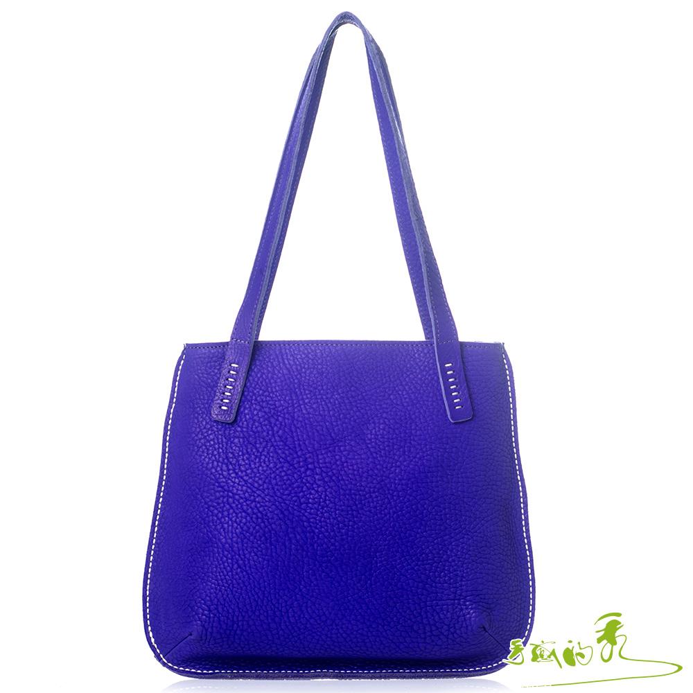 手感的秀 植鞣革春日和風肩背包(紫羅蘭)