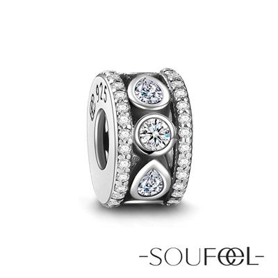 SOUFEEL索菲爾 925純銀珠飾 水滴 定位珠
