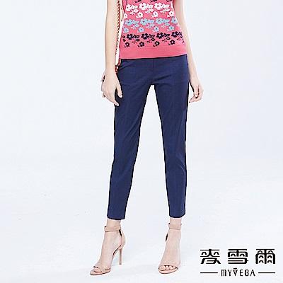 麥雪爾-涼感舒適皮革裝飾都會長褲