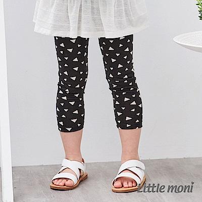 Little moni 印花內搭七分褲 (2色可選)