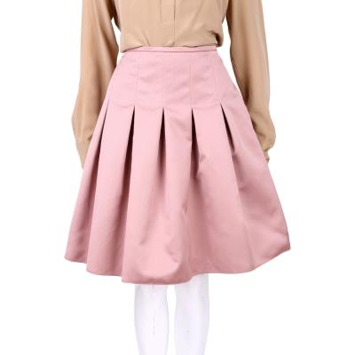 Max Mara 粉色抓摺設計及膝裙