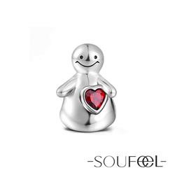 SOUFEEL索菲爾 925純銀珠飾 暖男的擁抱 串珠
