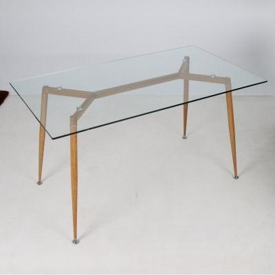 H&D Joanne 喬安現代風簡約玻璃餐桌_139.5*79.5*76cm