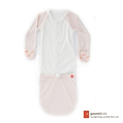 美國 GOUMIKIDS 有機棉嬰兒睡袍 (叢林動物-橘色)