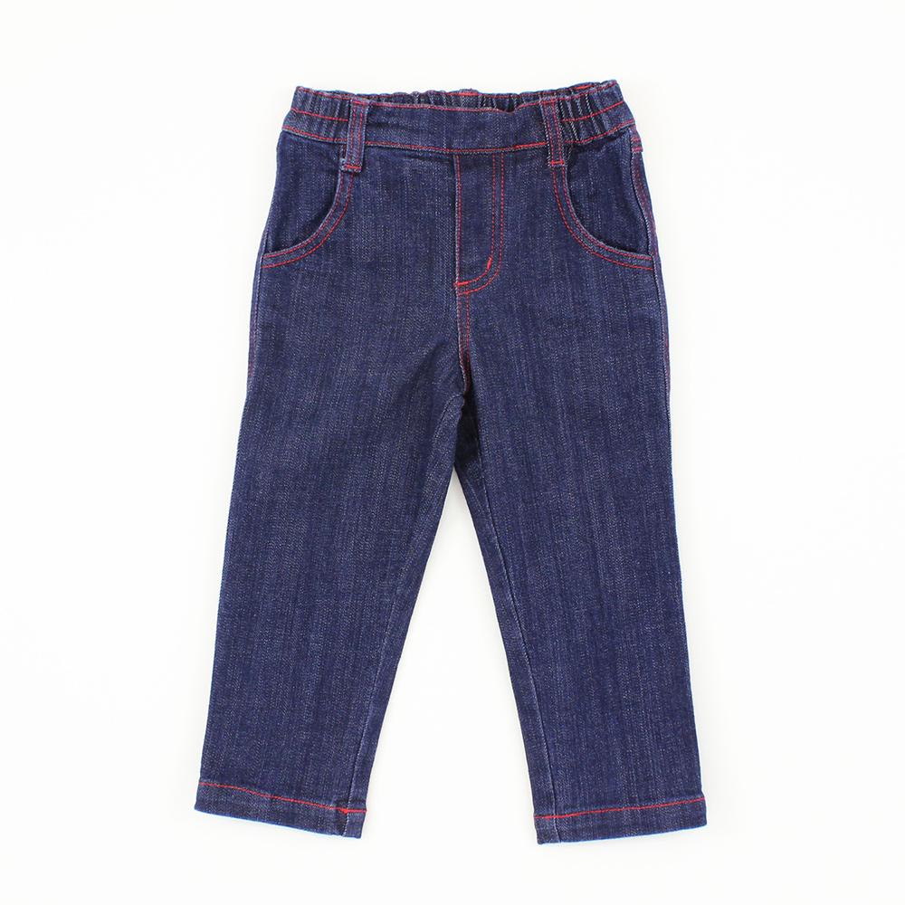 愛的世界 MYBEAR 半鬆緊帶口袋牛仔褲/1~4歲
