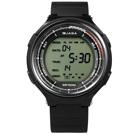 JAGA 捷卡 冷酷電子運動計時鬧鈴防水冷光照明橡膠手錶-黑色/47mm