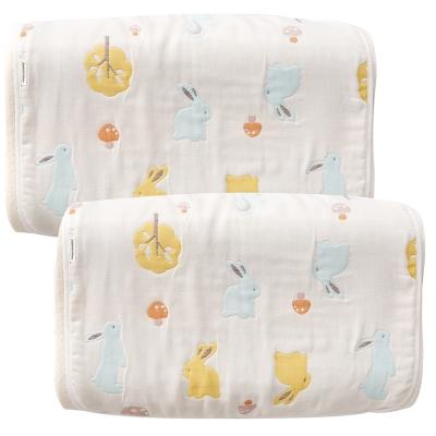奇哥 快樂森林六層紗枕巾-大2入