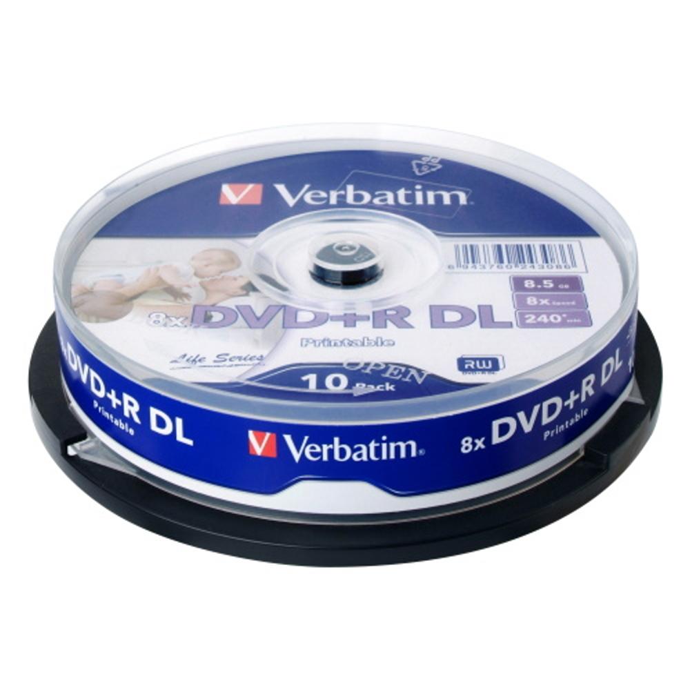 威寶 Life版  8X DVD+R DL 滿版可印 桶裝 (50片)