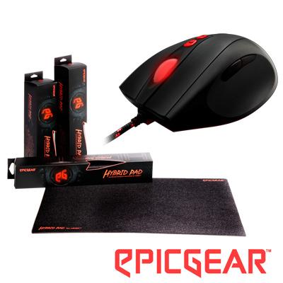 EPICGEAR-BLADE降魔刃光學電競滑鼠-HYBRID-PAD混魔墊小型電競滑鼠墊