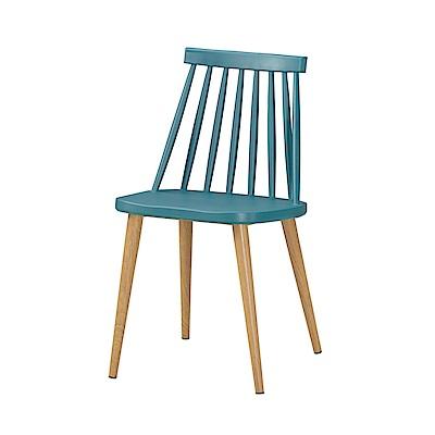 品家居 莎莉柏造型餐椅2入組合(三色可選)-43x48x78cm免組