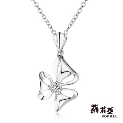 蘇菲亞SOPHIA - 花舞0.05克拉鑽石項鍊-18K