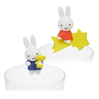 日本正版授權 盒裝2款 米飛兔 Miffy 杯緣子 盒玩 裝飾 PUTITTO