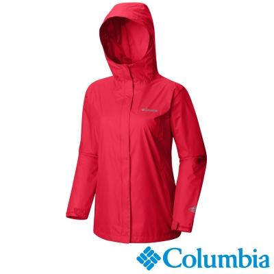 Columbia哥倫比亞  女款-單件式防水外套-紅色 URR24360RD