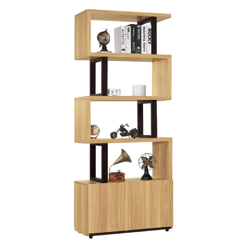品家居  肯詩2.7尺木紋雙色玄關櫃/隔間櫃-80x35x197.2cm免組