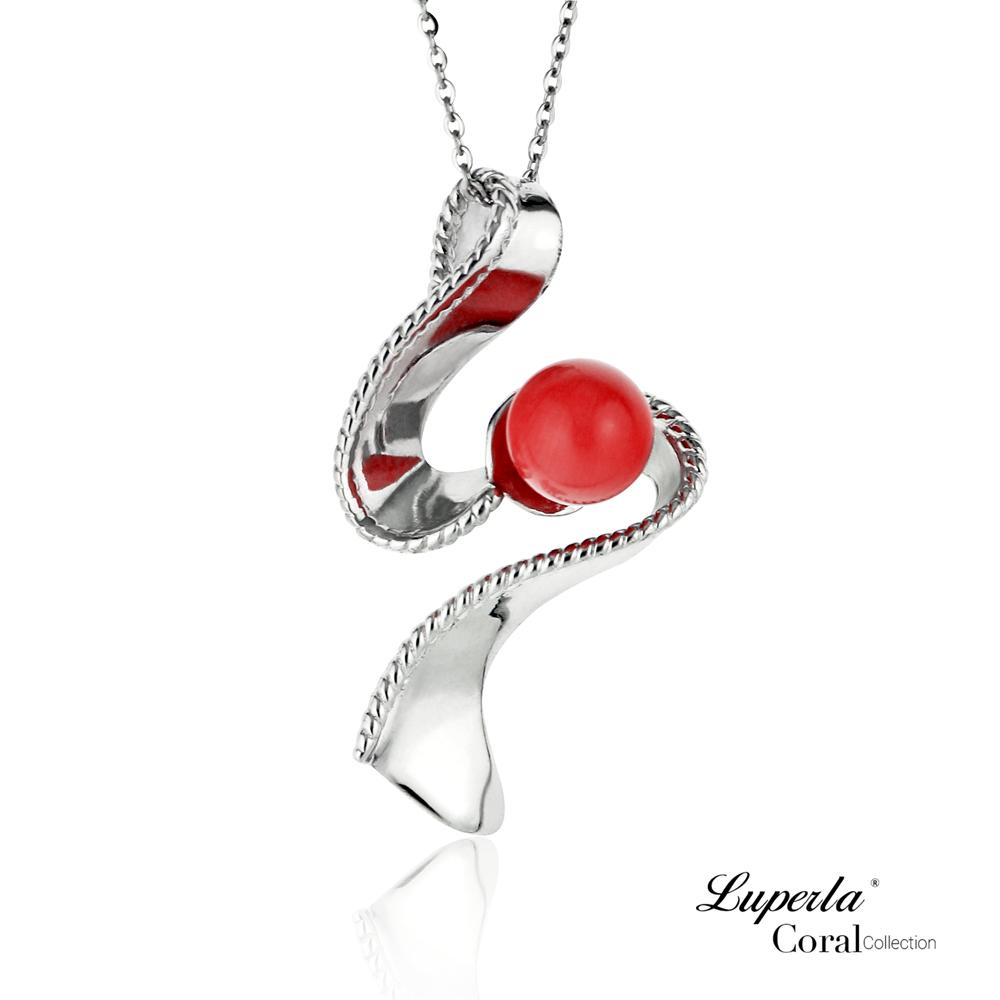 大東山珠寶 全紅珊瑚項鍊墜飾 一飛衝天