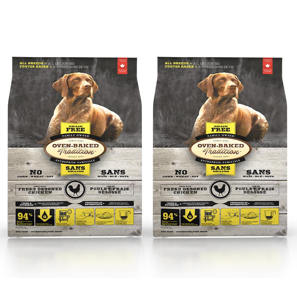 Oven-Baked烘焙客 無穀雞肉配方(大顆粒) 全犬 天然糧 5磅 x 2入