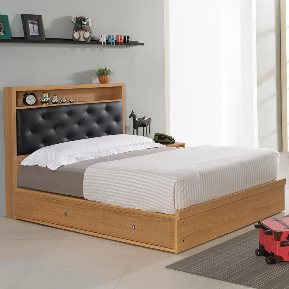Homelike 米亞抽屜式床台組-單人3.5尺