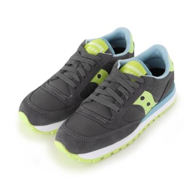 (女) 美國 SAUCONY 經典時尚休閒輕量慢跑球鞋-鐵灰綠