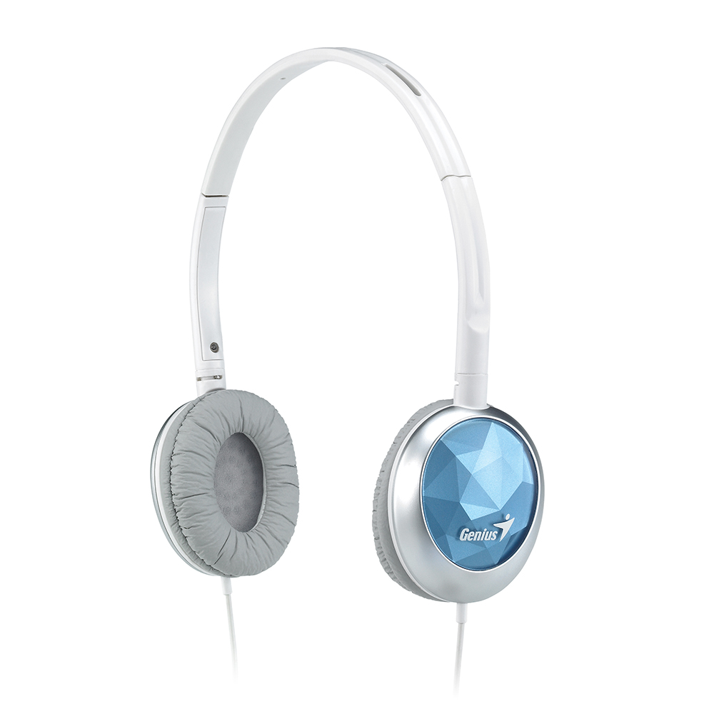 Genius GHP-400S 糖果鑽石音樂耳機(水漾藍)