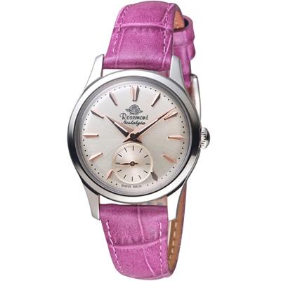 Rosemont 玫瑰錶 玫瑰米蘭系列小秒針女錶-白x紫色錶帶/32mm