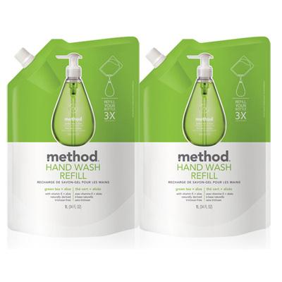 Method美則綠茶蘆薈天然洗手乳(補充包)1000ml x 2包