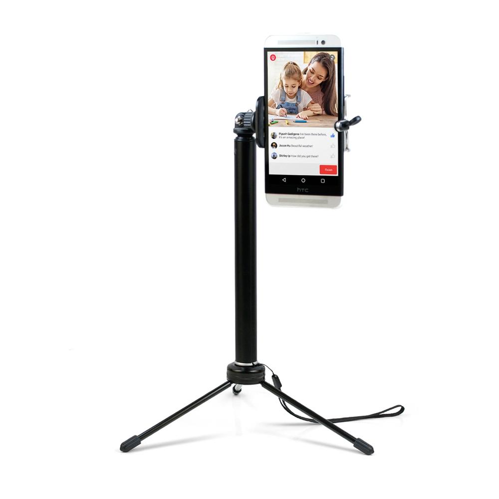 直播好幫手!相機/手機 兩用 四段伸縮自拍三腳架(T300)