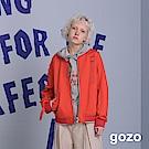 gozo 時尚運動感緞帶點綴率型夾克(二色)