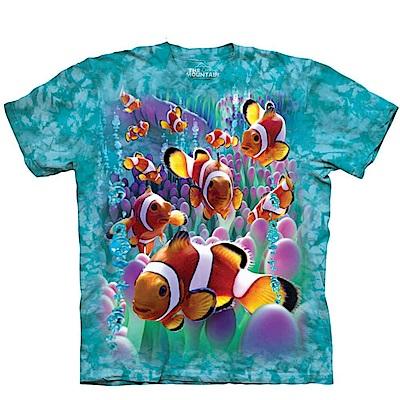 摩達客 美國進口The Mountain 海葵與小丑魚 純棉環保短袖T恤