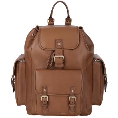 MBMJ-多口袋設計後背包-棕色