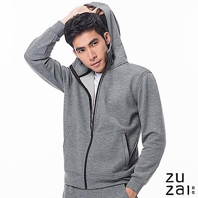 zuzai 自在暖煦系列 極輕羊毛休閒外套-男-灰色