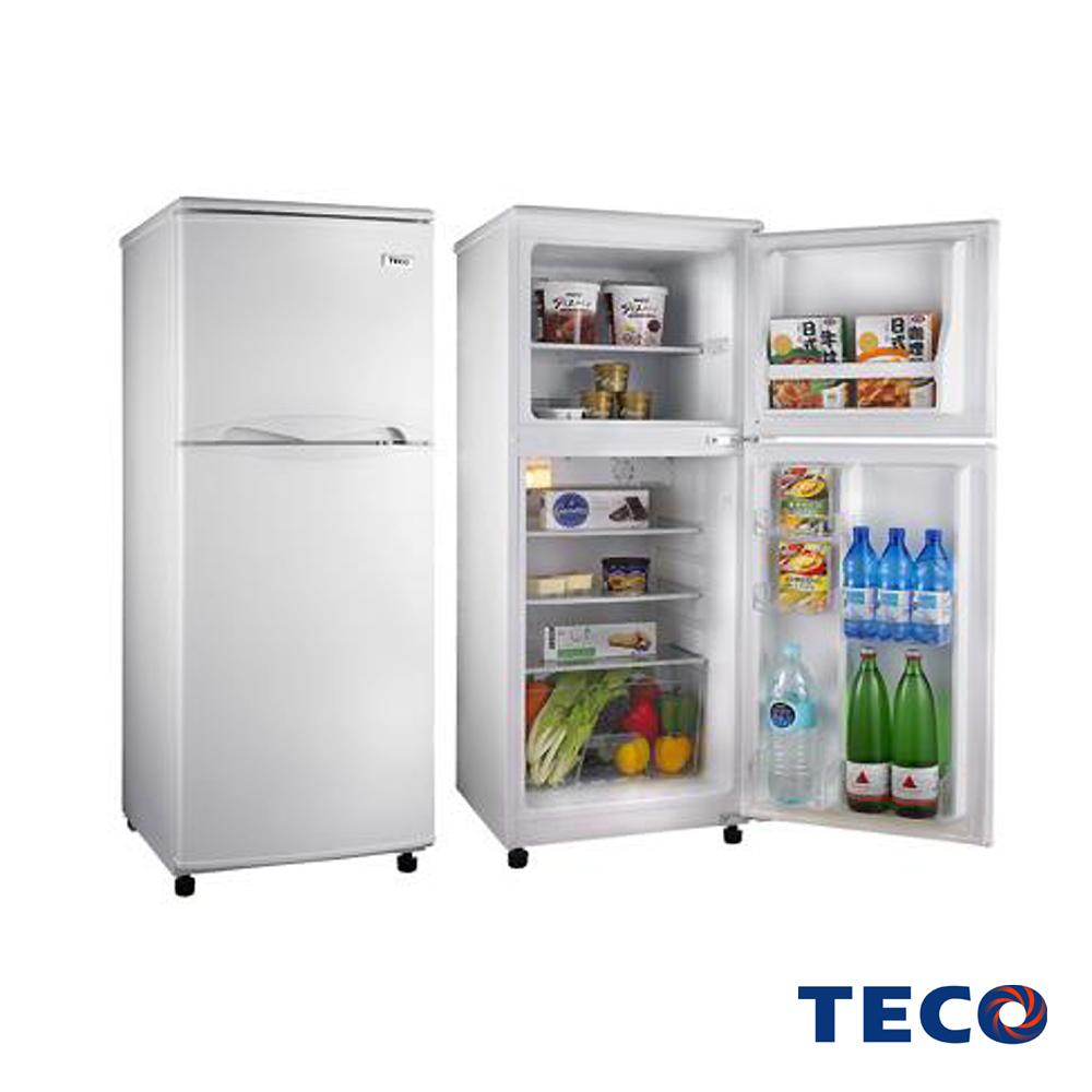 福利品 TECO 東元130L雙門冰箱R1302W