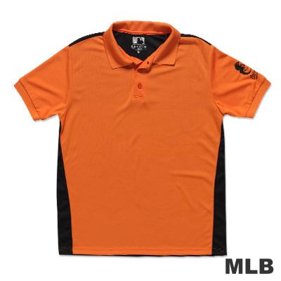 MLB-巴爾的摩金鶯隊修身撞色快排POLO衫-桔(男)