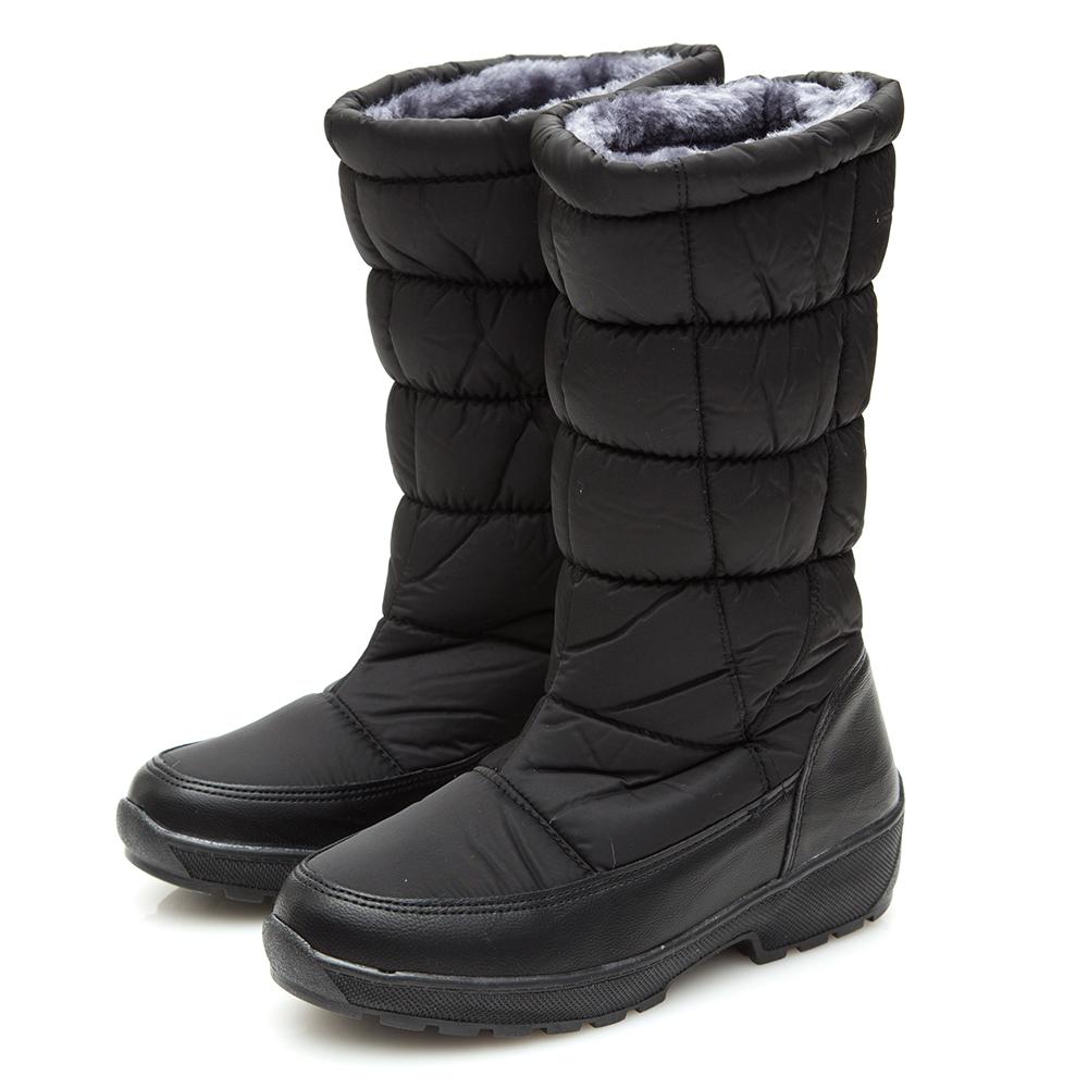 Camille s韓國空運-正韓製-2WAY車線長筒太空雪靴-黑色