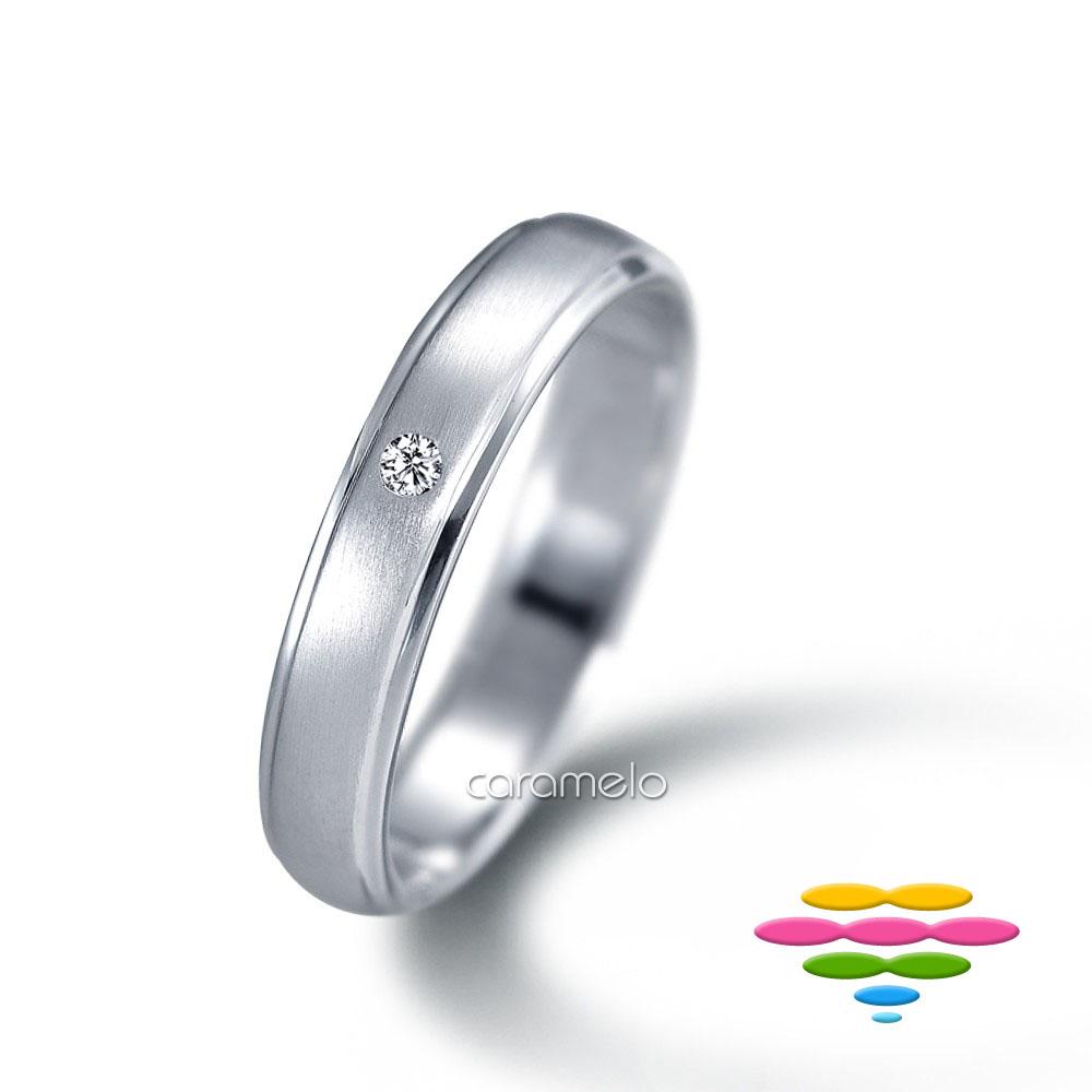 彩糖鑽工坊 K白 鑽戒(寬4mm) 幸褔指輪系列
