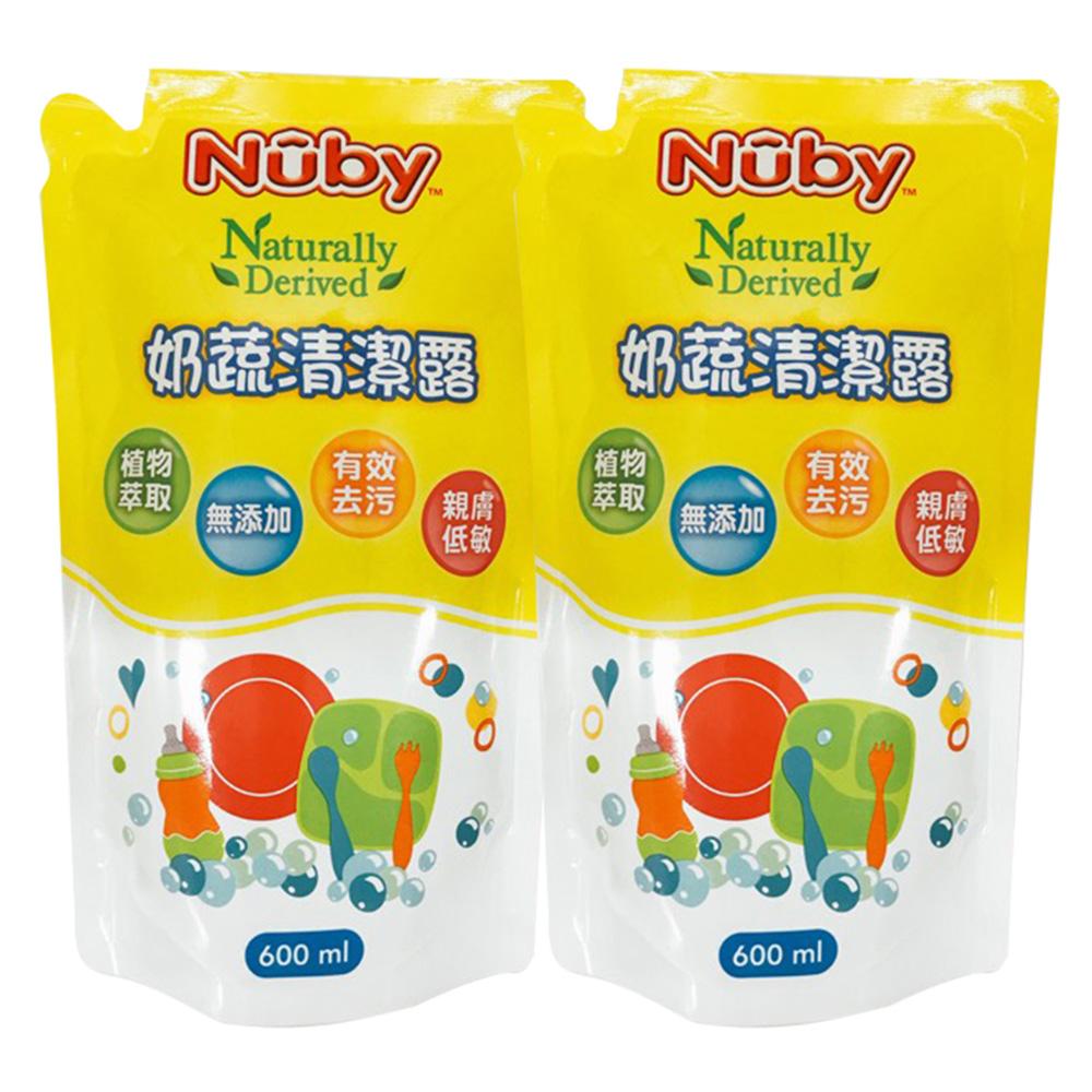 美國 Nuby 奶蔬清潔露補充包 600mlx2入