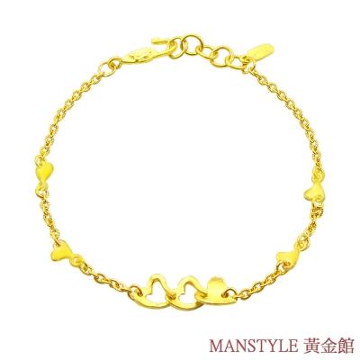 Manstyle 很多的愛黃金手鍊 (約1.39錢)