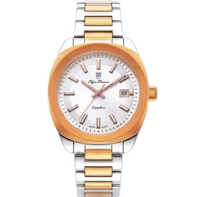 奧柏表 Olym Pianus 聚焦 石英腕錶-雙色  5706MSR