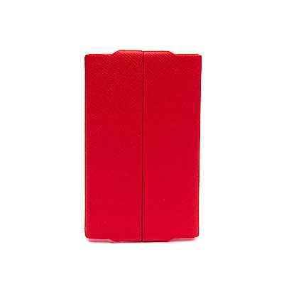 FEDON 1919 Classica經典皮面橫開名片夾-紅